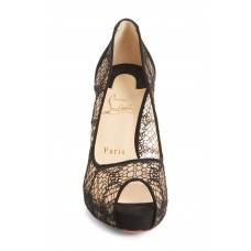 CHRISTIAN LOUBOUTIN Men Very Lace Peep Toe Pump Wipe with a soft 5596489 FMHGQNP