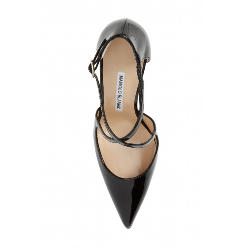 MANOLO BLAHNIK Men Umice Pointy Toe Pump Adjustable strap with buckle closure 5627282 DCVZBKI