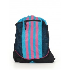 Adidas Women Backpack Blue Striped print and Color blocked detail 40913561 PNKHZTB
