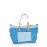 Cole Haan Women Leather Tote Blue Color blocked detail 39641515 FPMMKJX