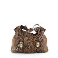 Jessica Simpson Women Shoulder Bag Brown Animal print 38663546 TKXHXQW