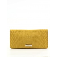 Cole Haan Women Leather Wallet Yellow Solid 39828809 HZUAWMV