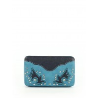 Women Wallet Blue Solid 40892403 QSYRFSR