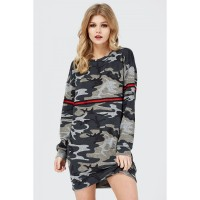 Women CAMO TAPE SWEAT DRESS S0470402025_MULTI KZIZFBX