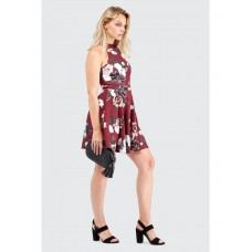 Women RIOJA FLORAL HIGH NECK SKATER DRESS S0460405016 RIOJA KDGWDIB