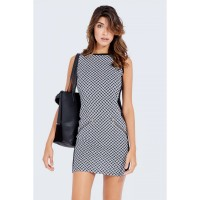 Women ZIP POCKET JACQUARD BODYCON DRESS S0460401019_MULTI HRVUCGG