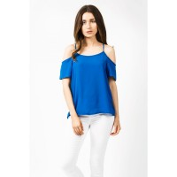Women COLD SHOULDER VEST S0430104021_FRENCH BLUE WGPLGCB
