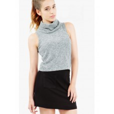 Women COWL ROLL NECK TANK S0421403014 GREY KCXDLEY