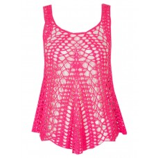 Women CROCHET VEST S0391502058 HOT PINK ZTWDMDI