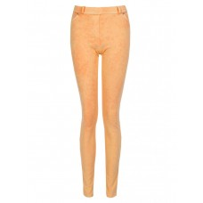 Women ACID WASH JEGGING S0390504068 ORANGE IKPHUJD